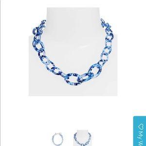 NWT Lele Sadoughi Thin Chain Garland Necklace